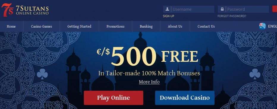 15 бесплатных вращений 7 Sultans Casino