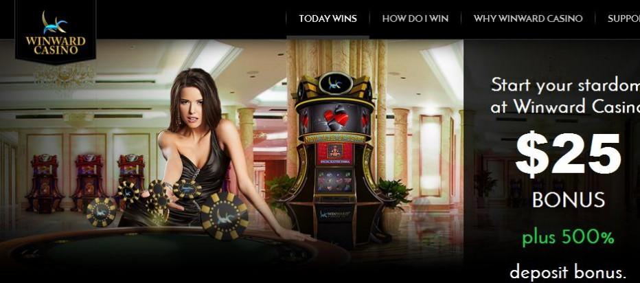 Бездепозитный бонус $25 Winward Casino