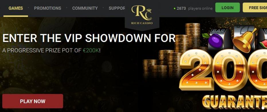 25 бесплатных вращений Rich Casino