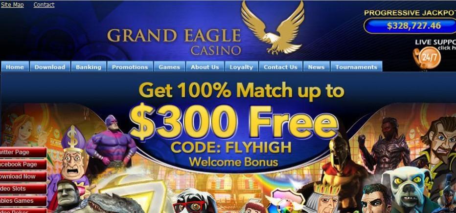 10 бесплатных вращений Grand Eagle Casino