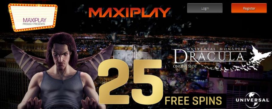 25 бесплатных вращений MaxiPlay Casino