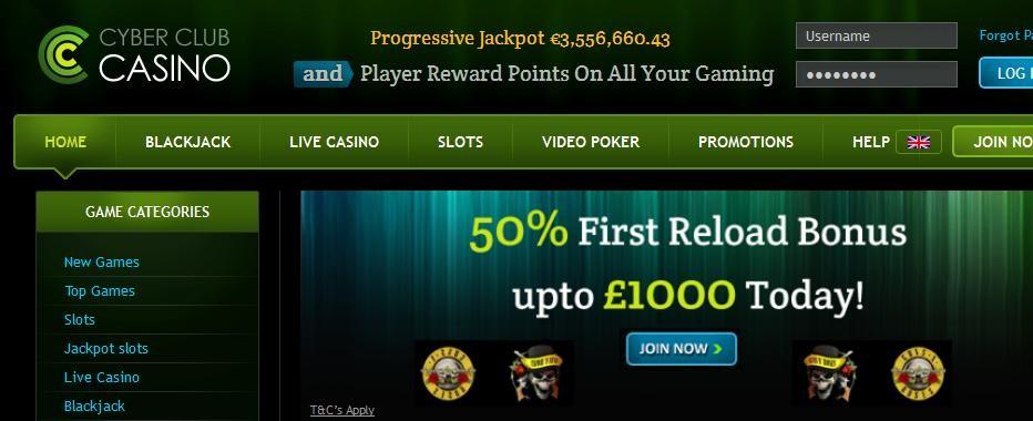 50 бесплатных вращений Cyber Club Casino