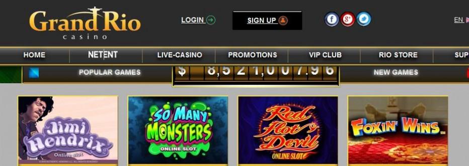 70 бесплатных вращений GrandRio Casino