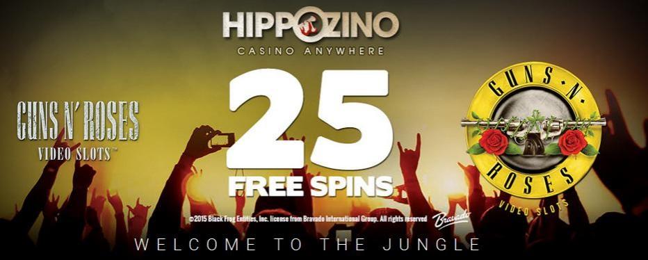 25 бесплатных вращений Hippozino Casino