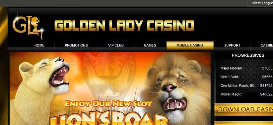 Бездепозитный бонус $302 Golden Lady Casino