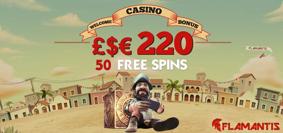 66 бесплатных вращений Flamantis Casino