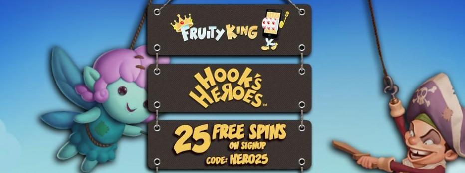 25 бесплатных вращений Fruity King Casino