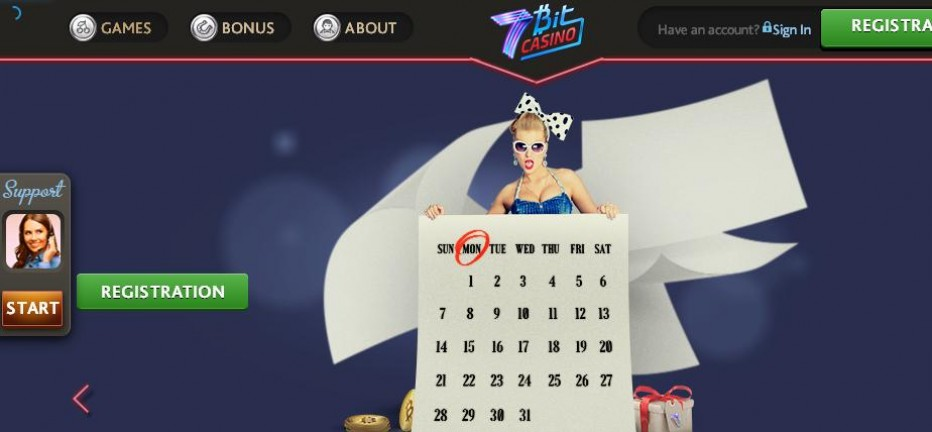 5 бесплатных вращений 7Bit Casino