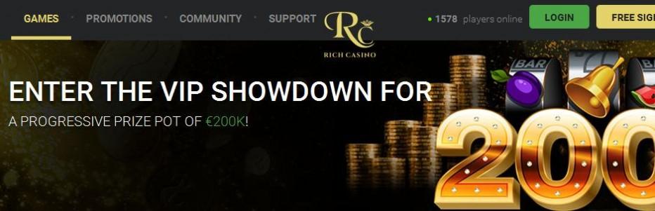 Бездепозитный бонус $25 Rich Casino