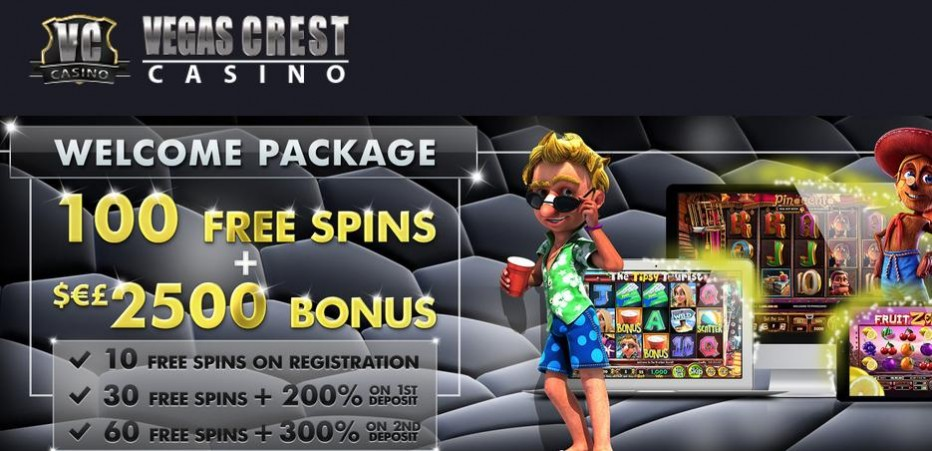 10 бесплатных вращений Vegas Crest Casino
