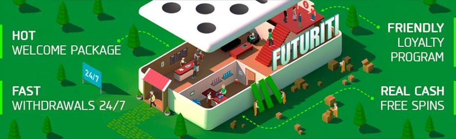 20 бесплатных вращений Futuriti Casino