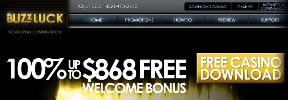 Бездепозитный бонус $35 BuzzLuck casino