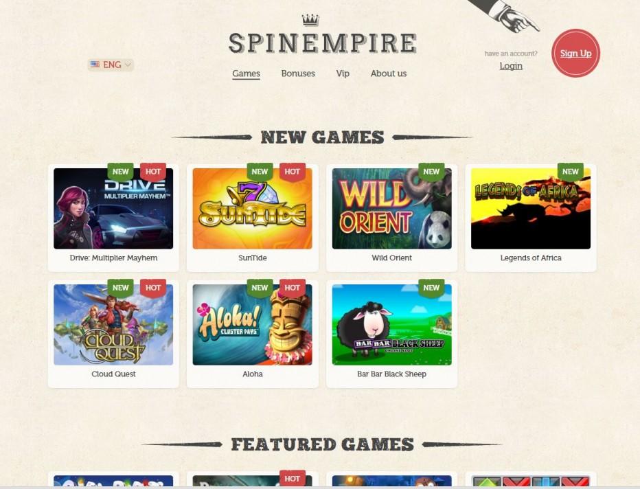 15 бесплатных вращений SpinEmpire Casino
