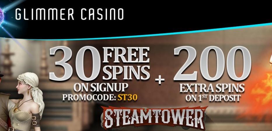 30 бесплатных вращений Glimmer Casino