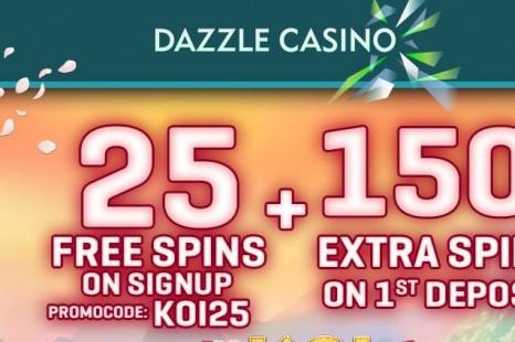 30 бесплатных вращений Dazzle Casino