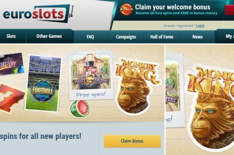 20 бесплатных вращений EuroSlots Casino