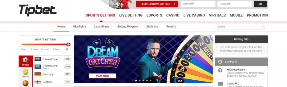 10 бесплатных вращений Tipbet Casino